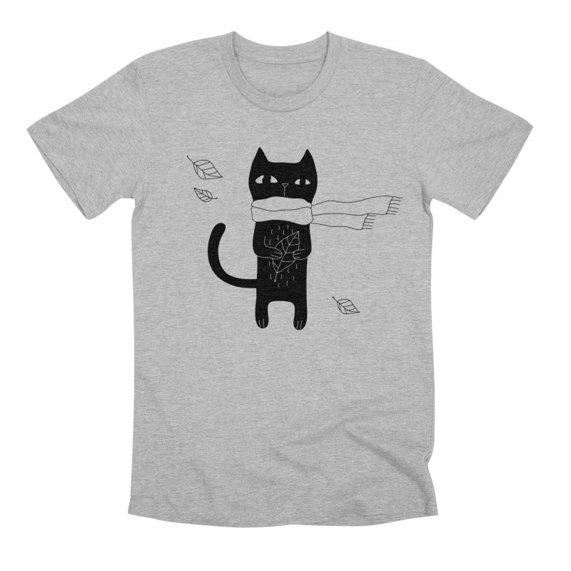 Lonely Cat Men's Premium T-Shirt by PENARULIT illustration