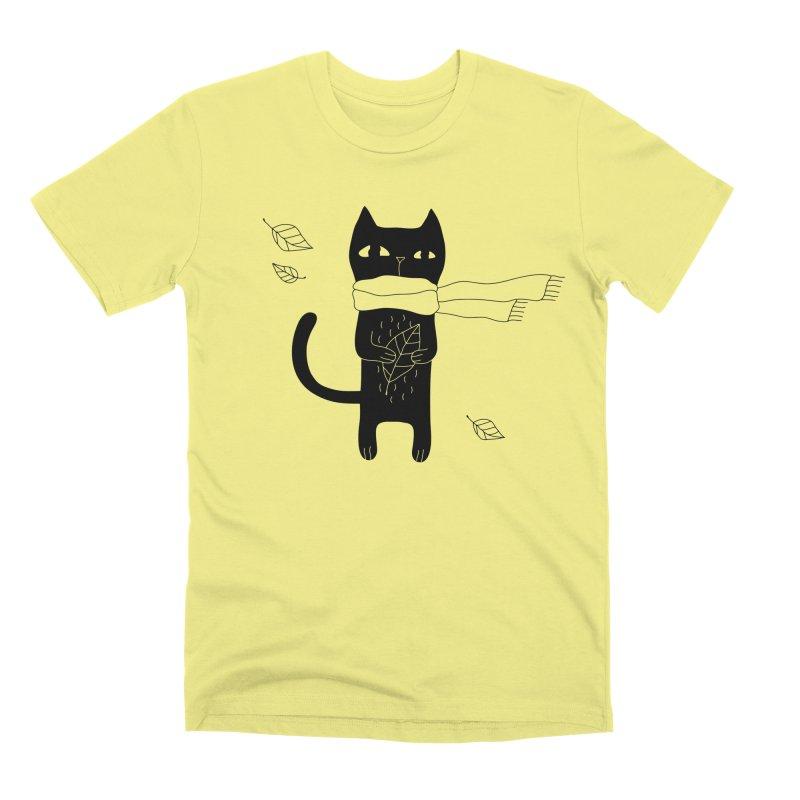 Lonely Cat Men's Premium T-Shirt by Ekaterina Zimodro's Artist Shop