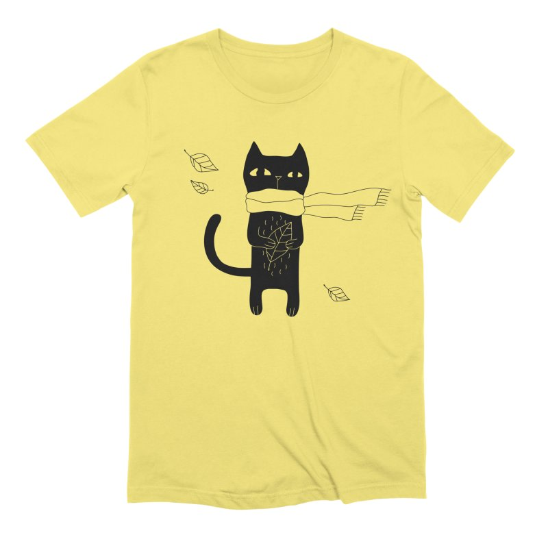 Lonely Cat Men's T-Shirt by PENARULIT illustration