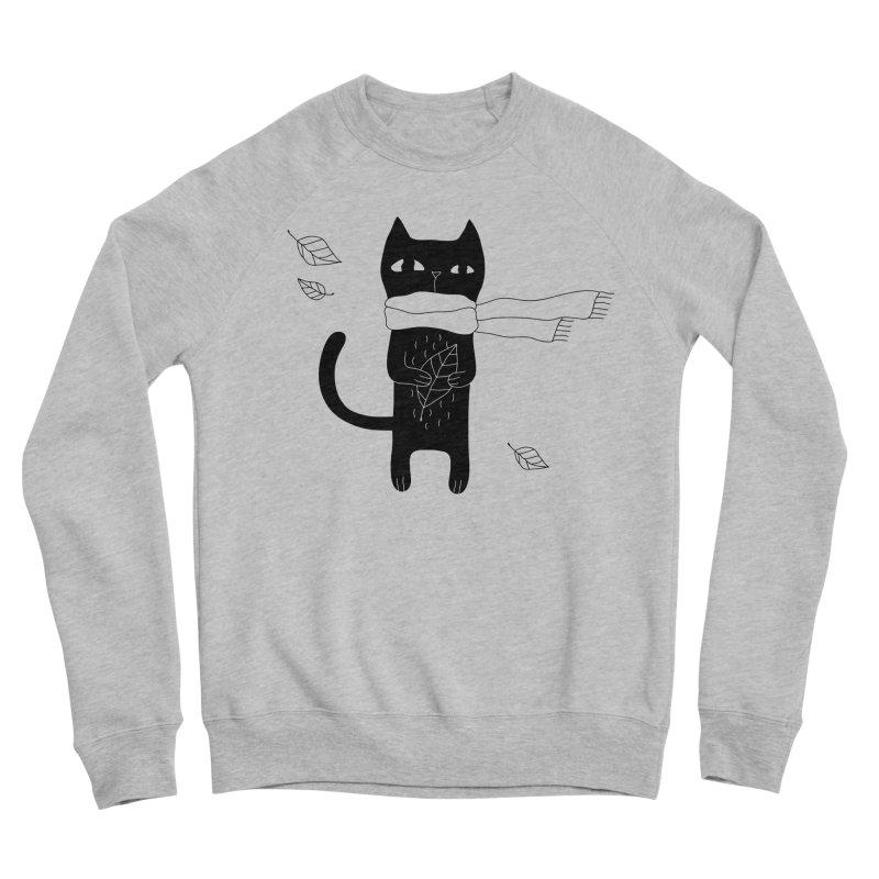 Lonely Cat Men's Sponge Fleece Sweatshirt by Ekaterina Zimodro's Artist Shop