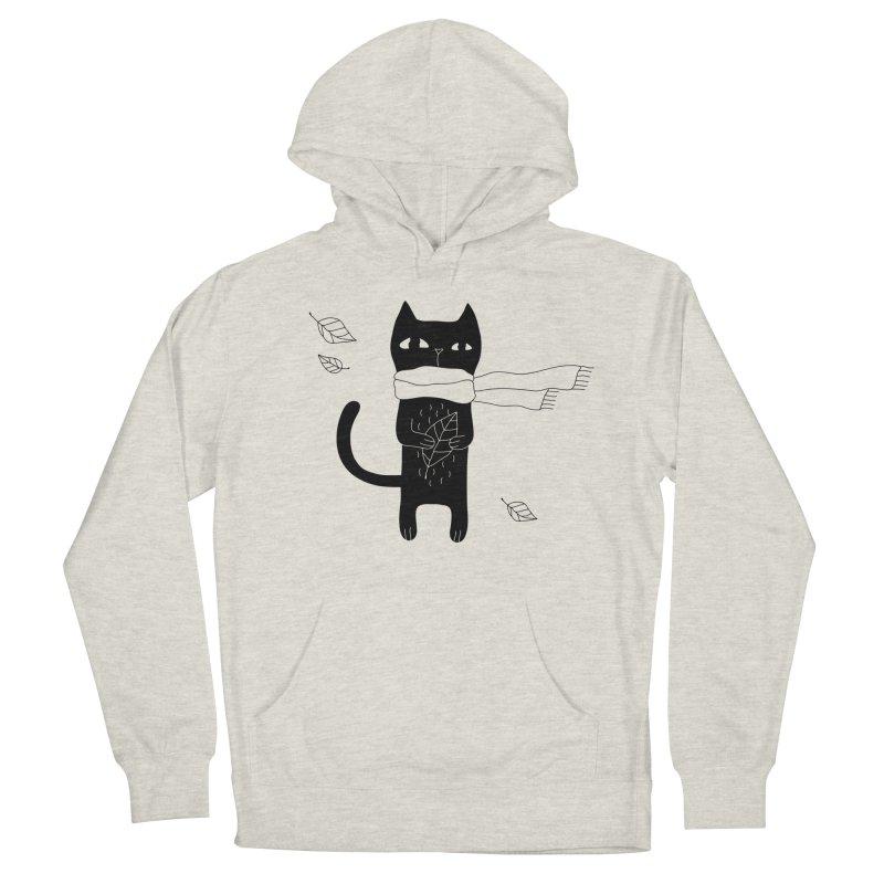 Lonely Cat Men's Pullover Hoody by Ekaterina Zimodro's Artist Shop