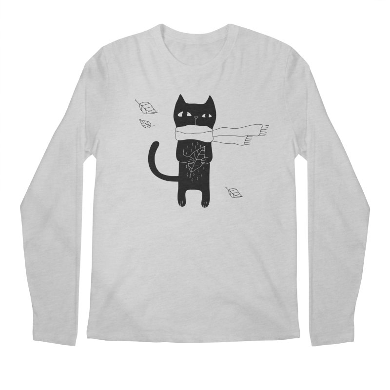 Lonely Cat Men's Longsleeve T-Shirt by PENARULIT illustration