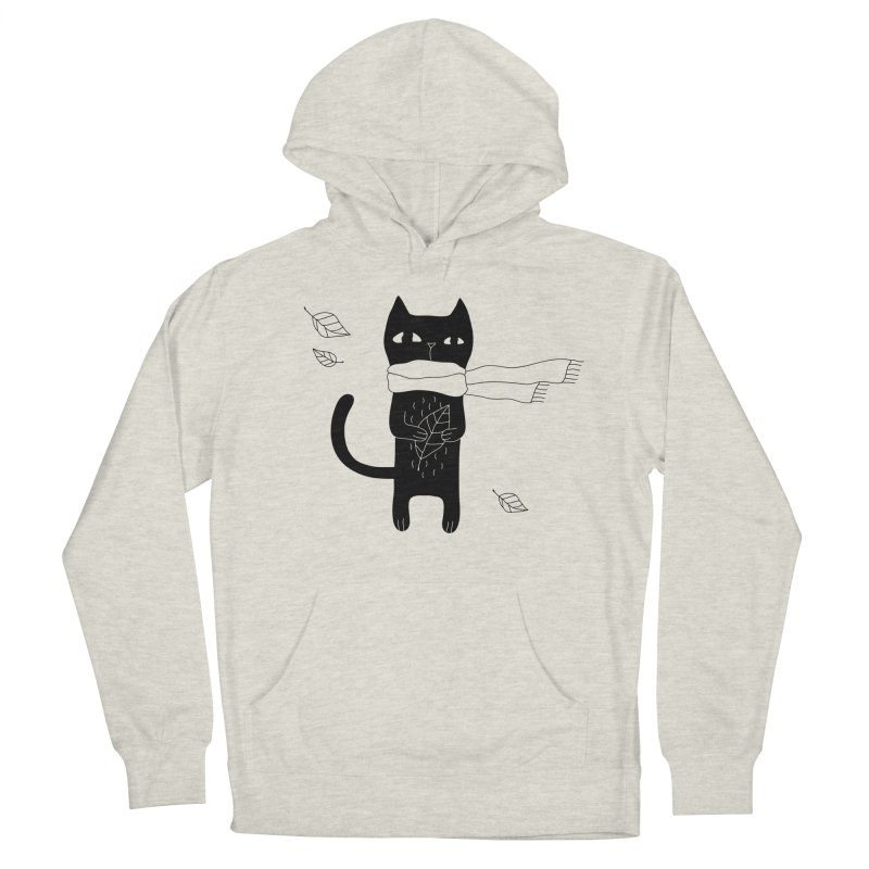 Lonely Cat Women's French Terry Pullover Hoody by PENARULIT illustration