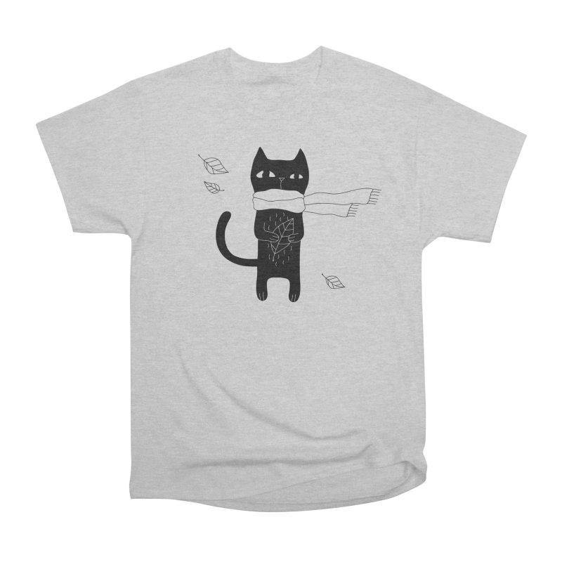 Lonely Cat Women's Heavyweight Unisex T-Shirt by PENARULIT illustration