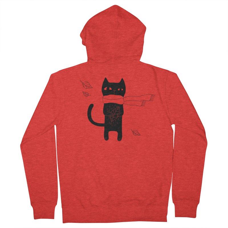 Lonely Cat Women's Zip-Up Hoody by Ekaterina Zimodro's Artist Shop