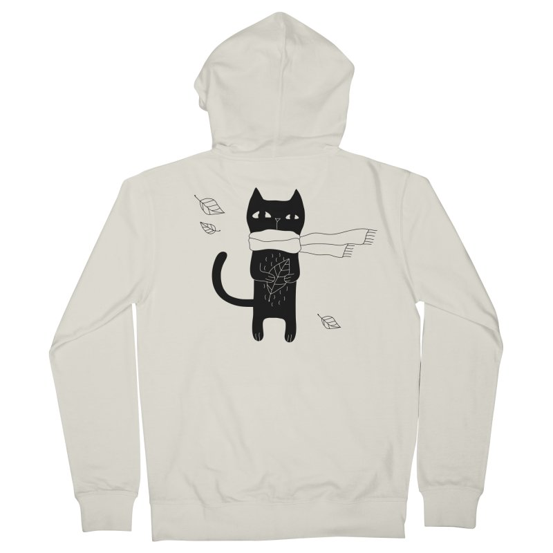 Lonely Cat Women's French Terry Zip-Up Hoody by PENARULIT illustration