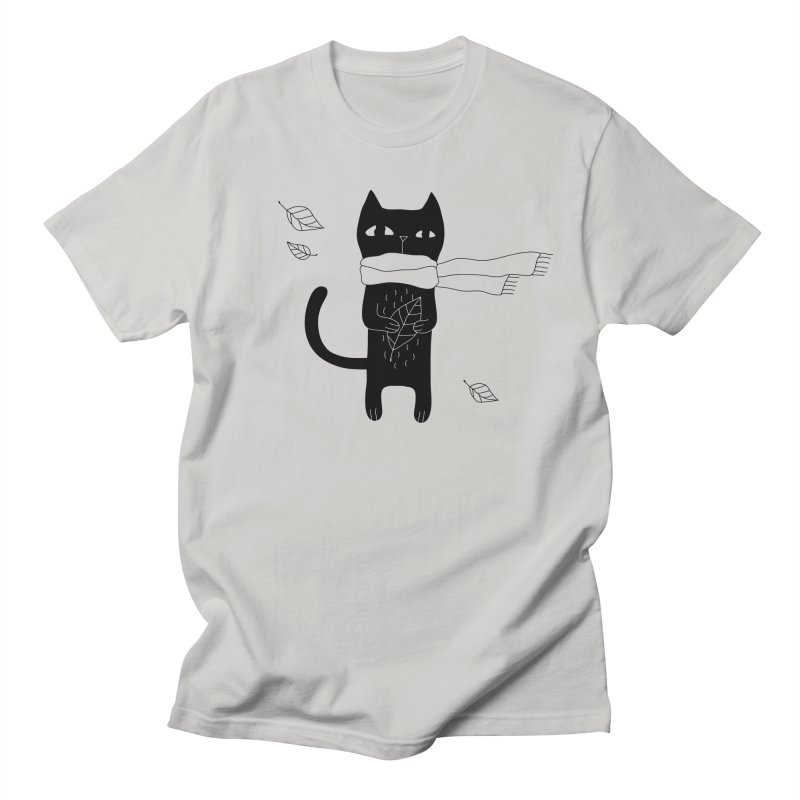 Lonely Cat Women's Regular Unisex T-Shirt by Ekaterina Zimodro's Artist Shop