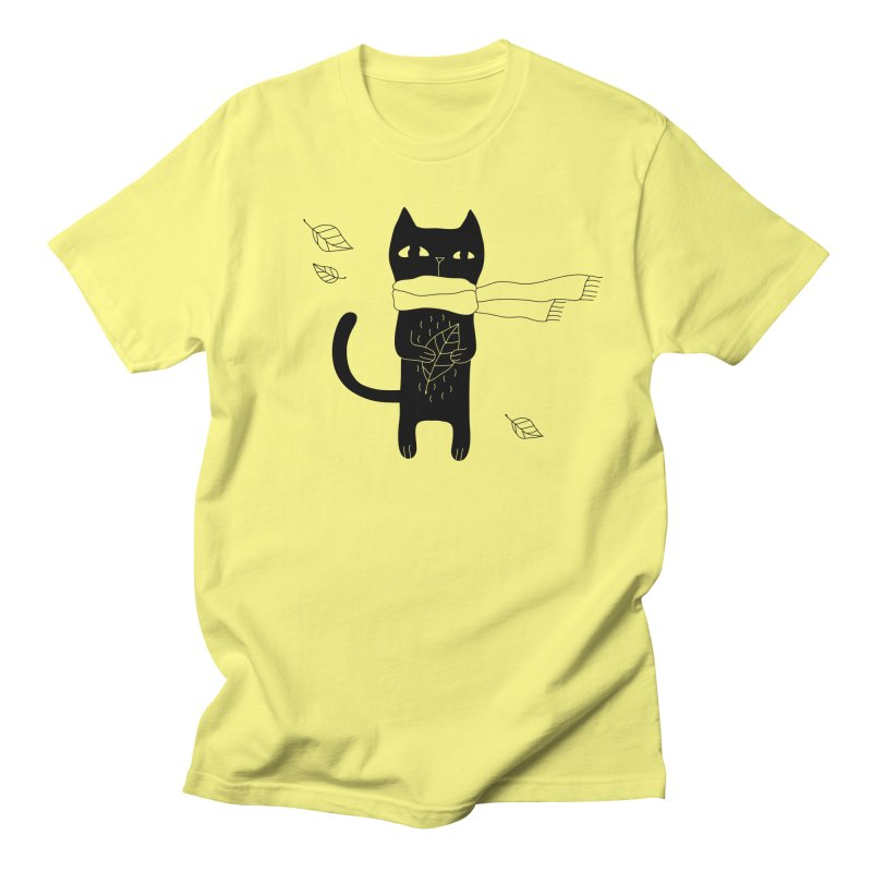 Lonely Cat Men's Regular T-Shirt by Ekaterina Zimodro's Artist Shop