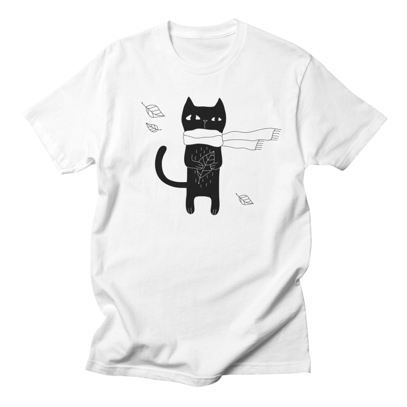 Lonely Cat Women's Regular Unisex T-Shirt by PENARULIT illustration