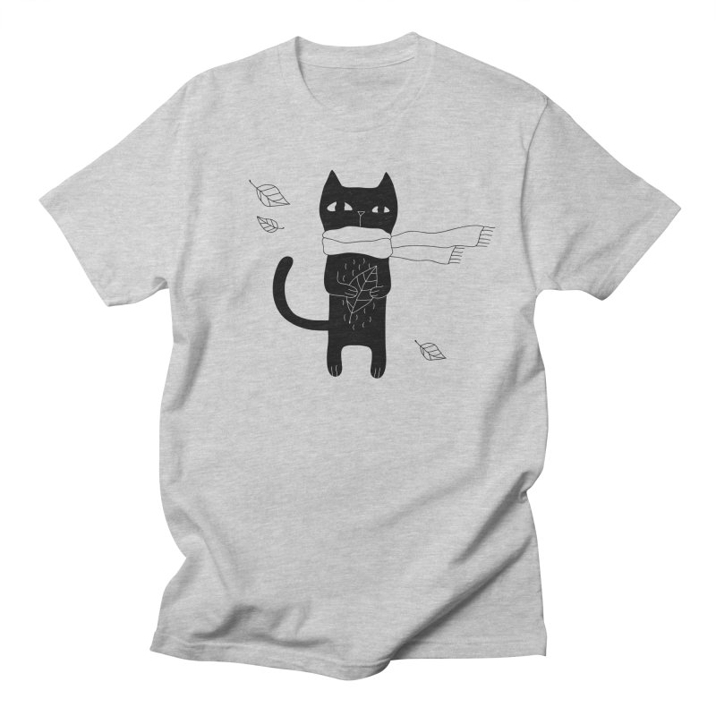Lonely Cat Men's Regular T-Shirt by PENARULIT illustration