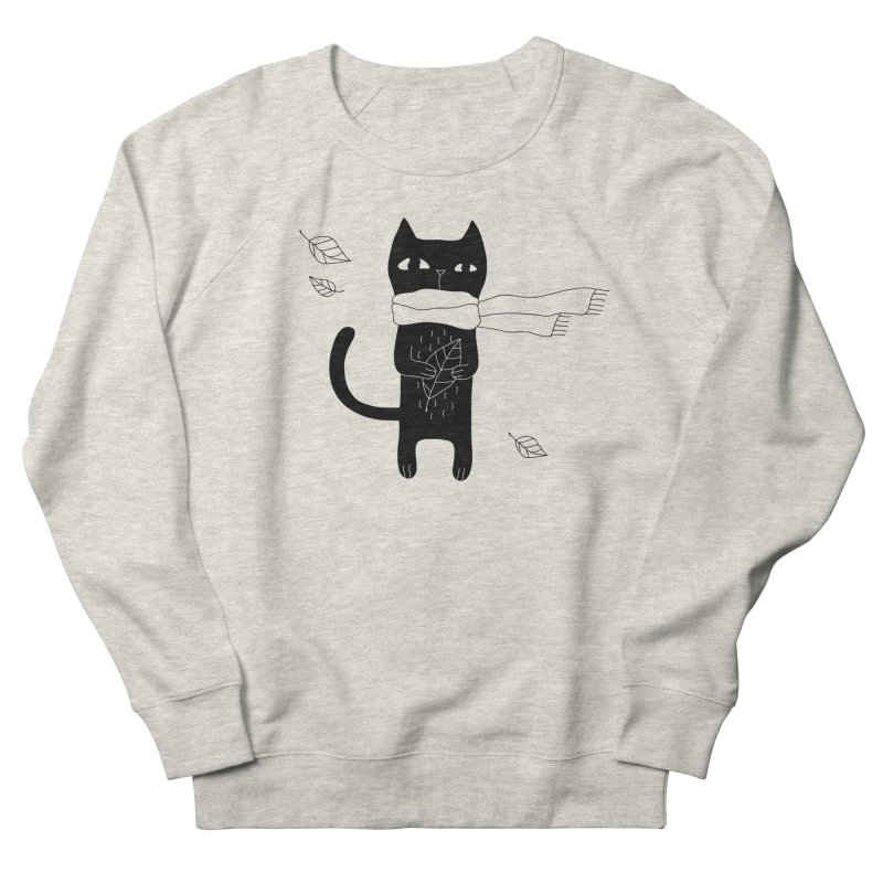 Lonely Cat Women's French Terry Sweatshirt by PENARULIT illustration