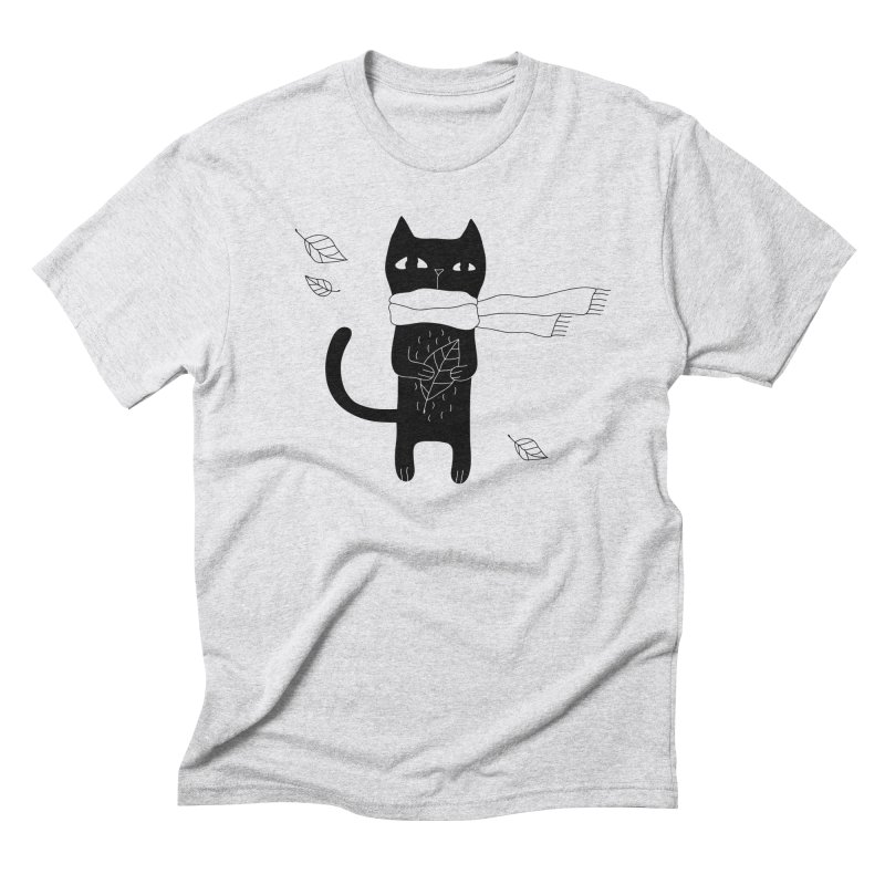 Lonely Cat Men's Triblend T-Shirt by Ekaterina Zimodro's Artist Shop