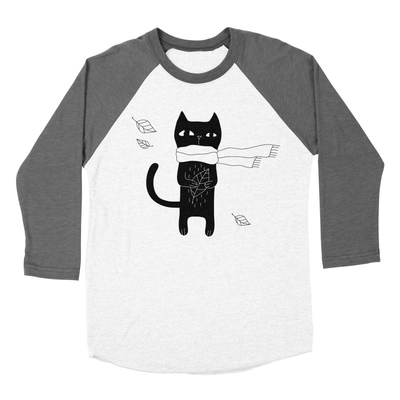 Lonely Cat Women's Baseball Triblend Longsleeve T-Shirt by PENARULIT illustration