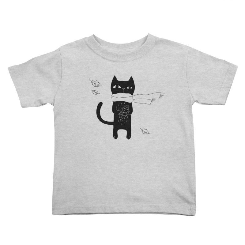 Lonely Cat Kids Toddler T-Shirt by Ekaterina Zimodro's Artist Shop