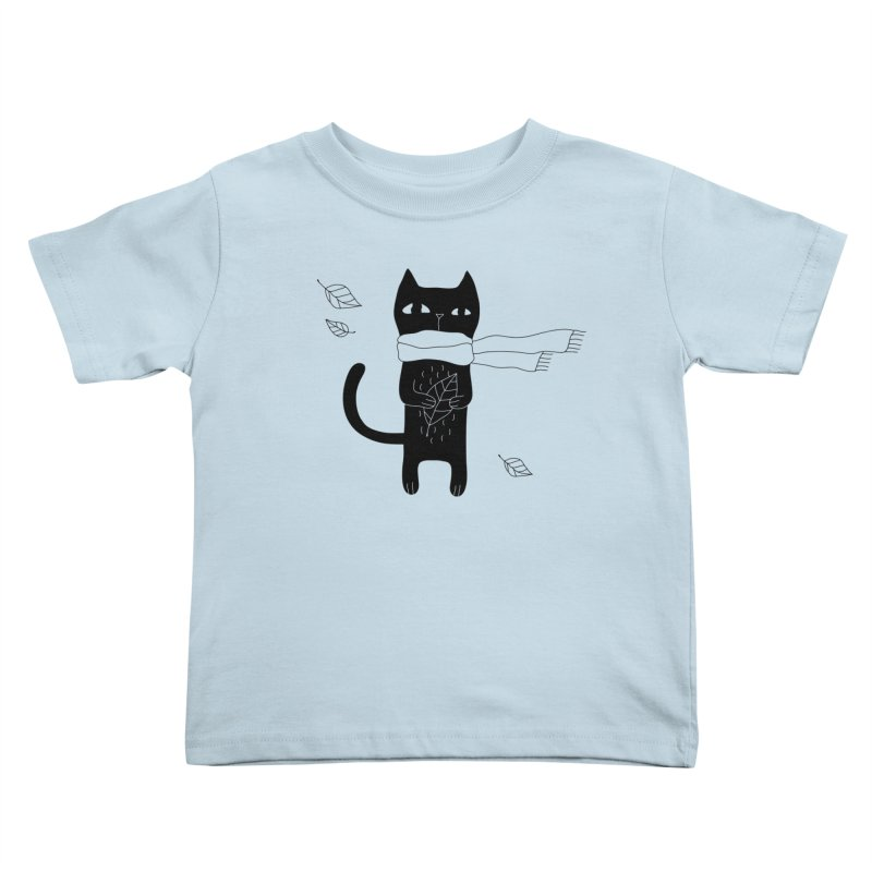 Black Cat Kids Toddler T-Shirt by PENARULIT's Artist Shop