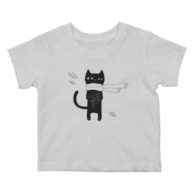Lonely Cat Kids Baby T-Shirt by Ekaterina Zimodro's Artist Shop