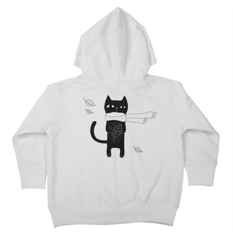 Lonely Cat Kids Toddler Zip-Up Hoody by PENARULIT illustration