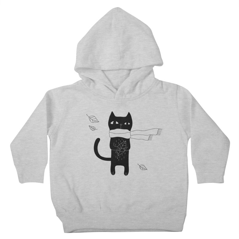 Lonely Cat Kids Toddler Pullover Hoody by Ekaterina Zimodro's Artist Shop