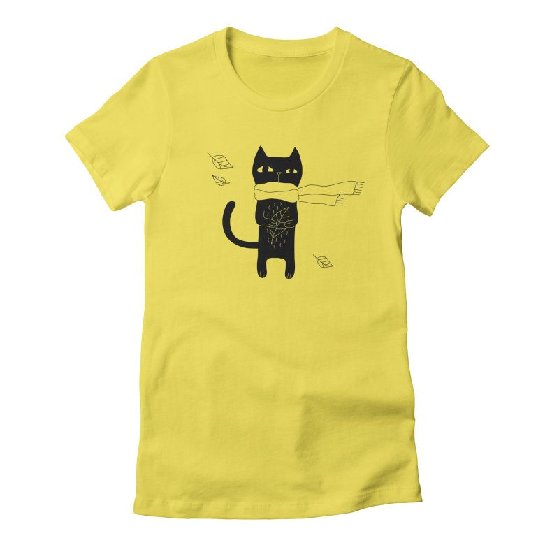 Black Cat Women's T-Shirt by PENARULIT's Artist Shop