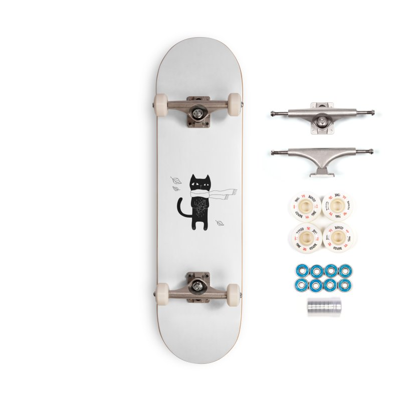 Lonely Cat Accessories Complete - Premium Skateboard by PENARULIT illustration