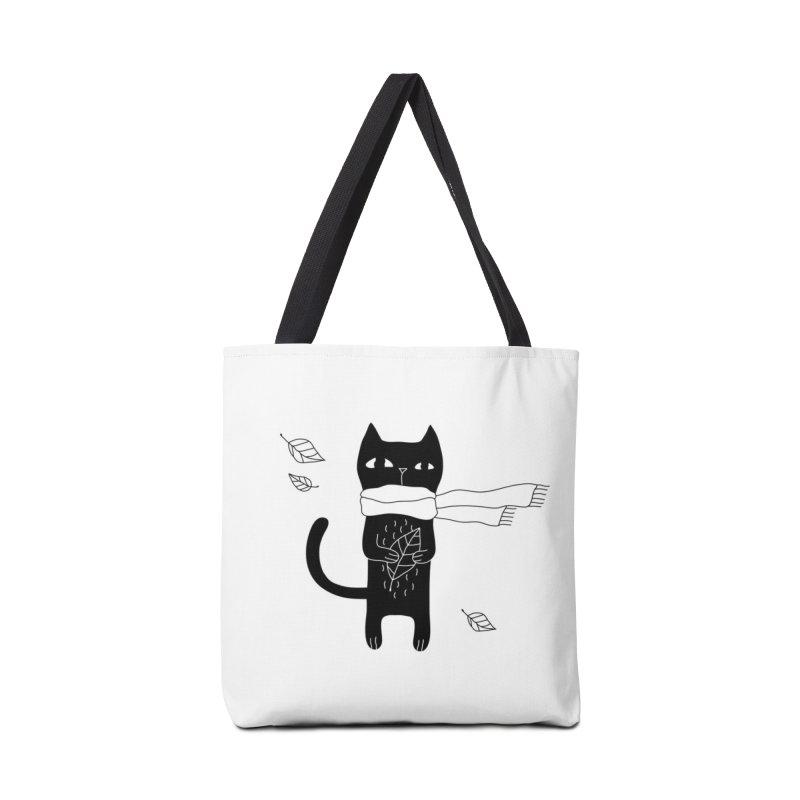 Lonely Cat Accessories Bag by Ekaterina Zimodro's Artist Shop