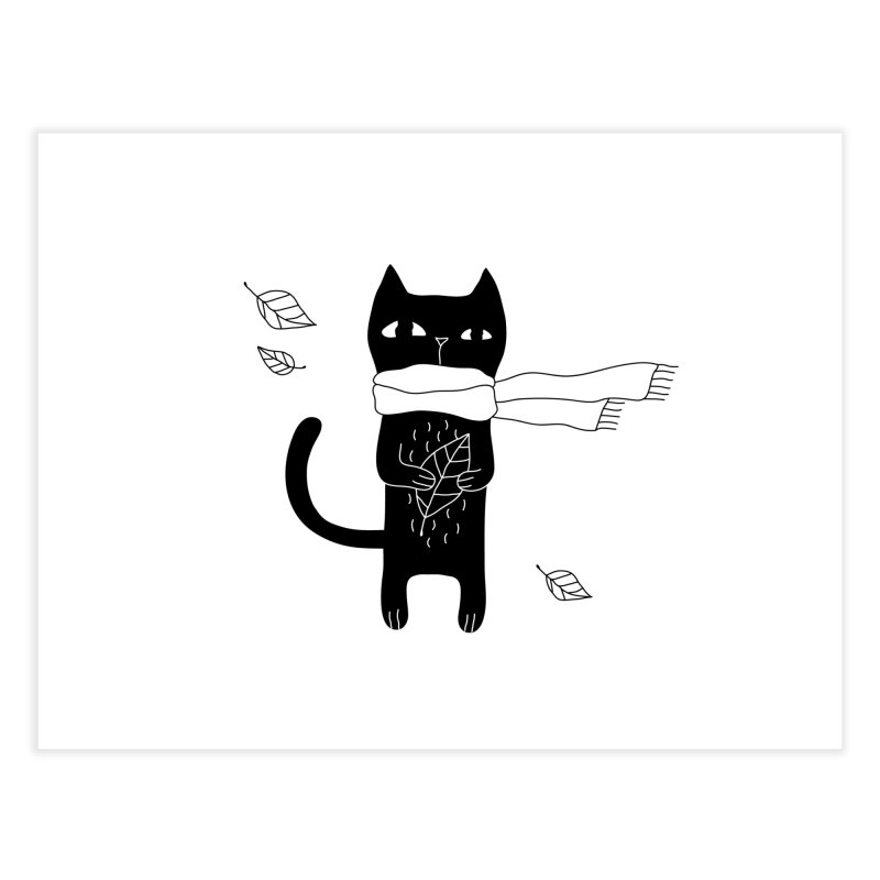 Lonely Cat Home Fine Art Print by PENARULIT illustration