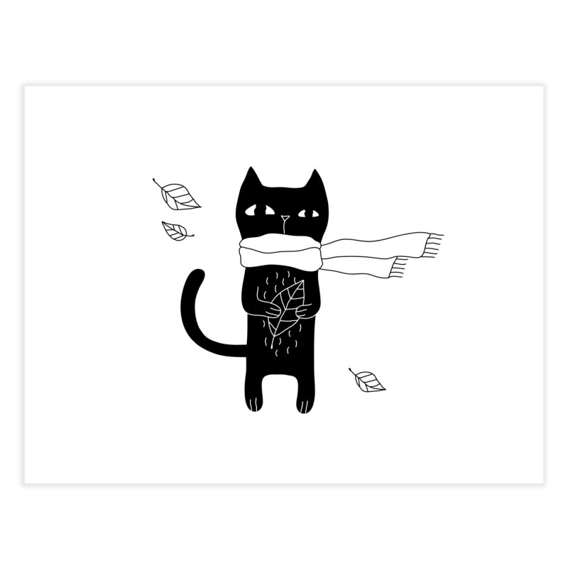 Lonely Cat Home Fine Art Print by PENARULIT illustration