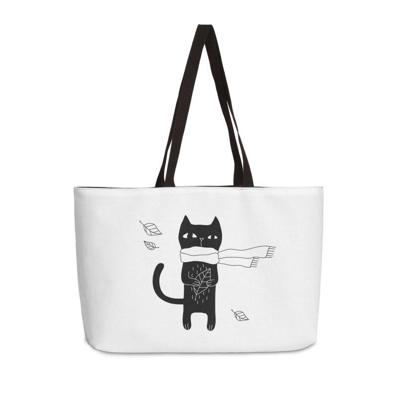 Lonely Cat Accessories Weekender Bag Bag by PENARULIT illustration