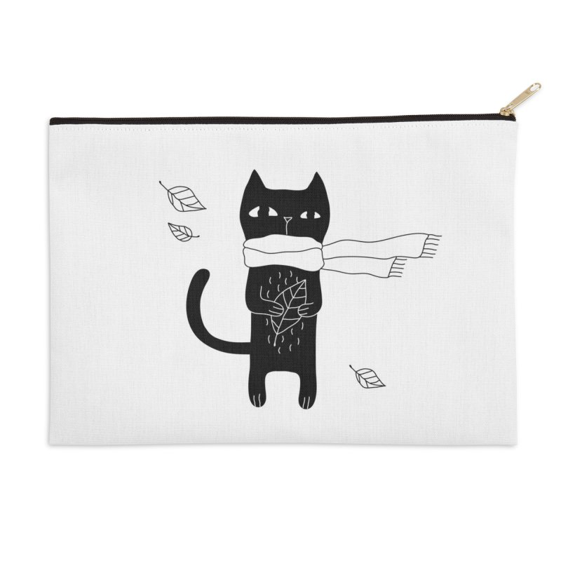 Lonely Cat Accessories Zip Pouch by Ekaterina Zimodro's Artist Shop