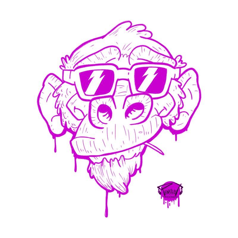 SEE NO EVIL   2 of 4   neon purple Men's T-Shirt by pencilistoons's Artist Shop
