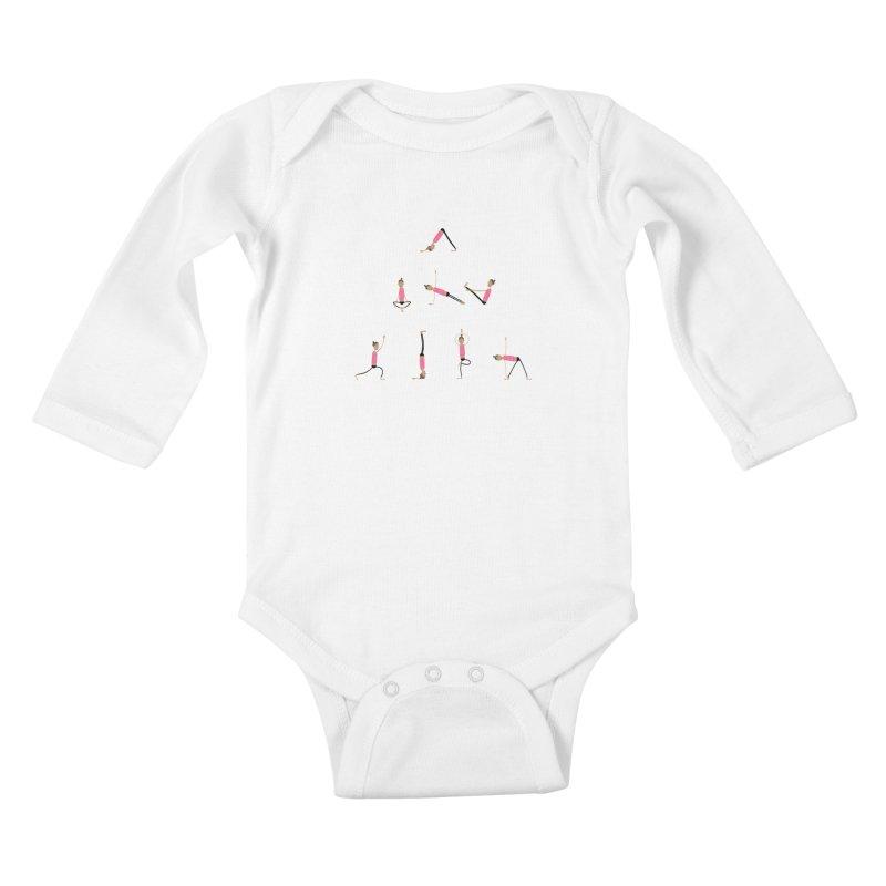 All you need is... yoga Kids Baby Longsleeve Bodysuit by IreneL's Artist Shop