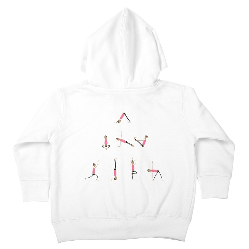 All you need is... yoga Kids Toddler Zip-Up Hoody by IreneL's Artist Shop