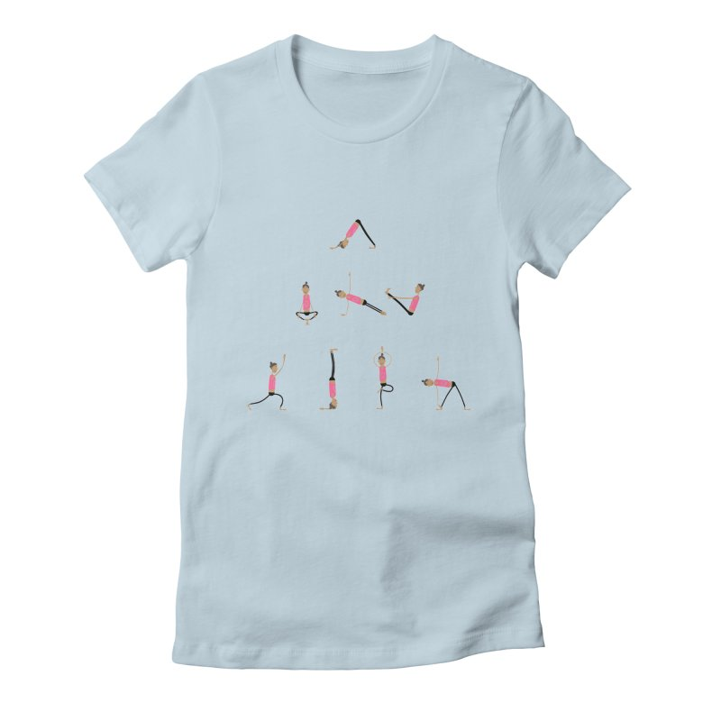 All you need is... yoga Women's Fitted T-Shirt by IreneL's Artist Shop