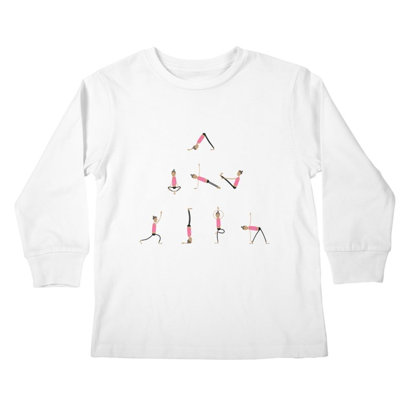 All you need is... yoga Kids Longsleeve T-Shirt by IreneL's Artist Shop