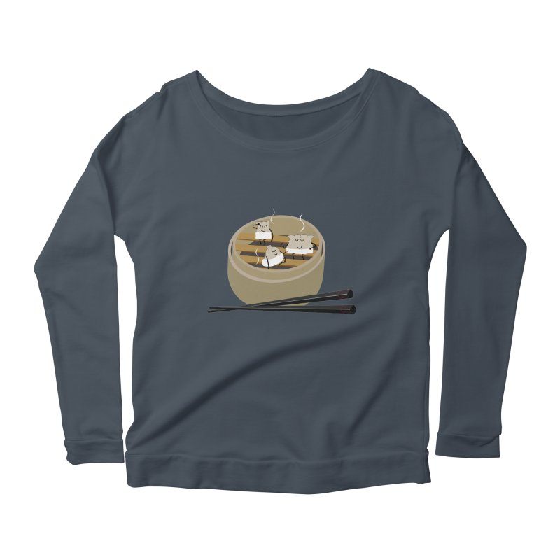 Steam room Women's Scoop Neck Longsleeve T-Shirt by IreneL's Artist Shop