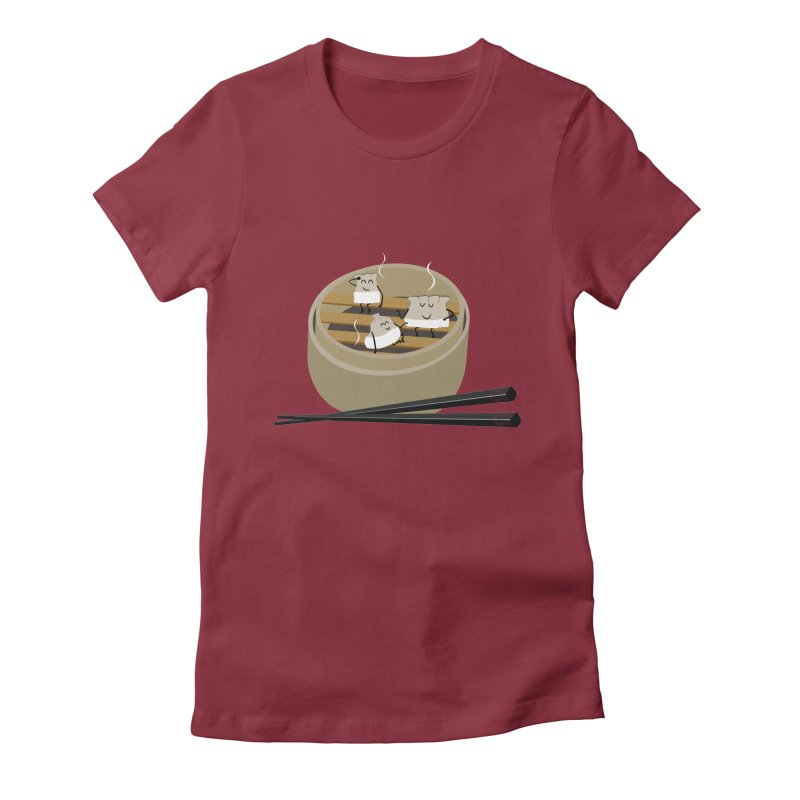 Steam room Women's Fitted T-Shirt by IreneL's Artist Shop