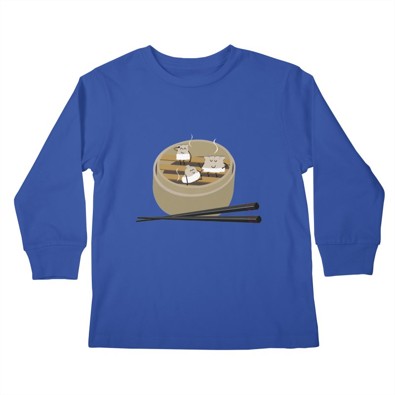 Steam room Kids Longsleeve T-Shirt by IreneL's Artist Shop