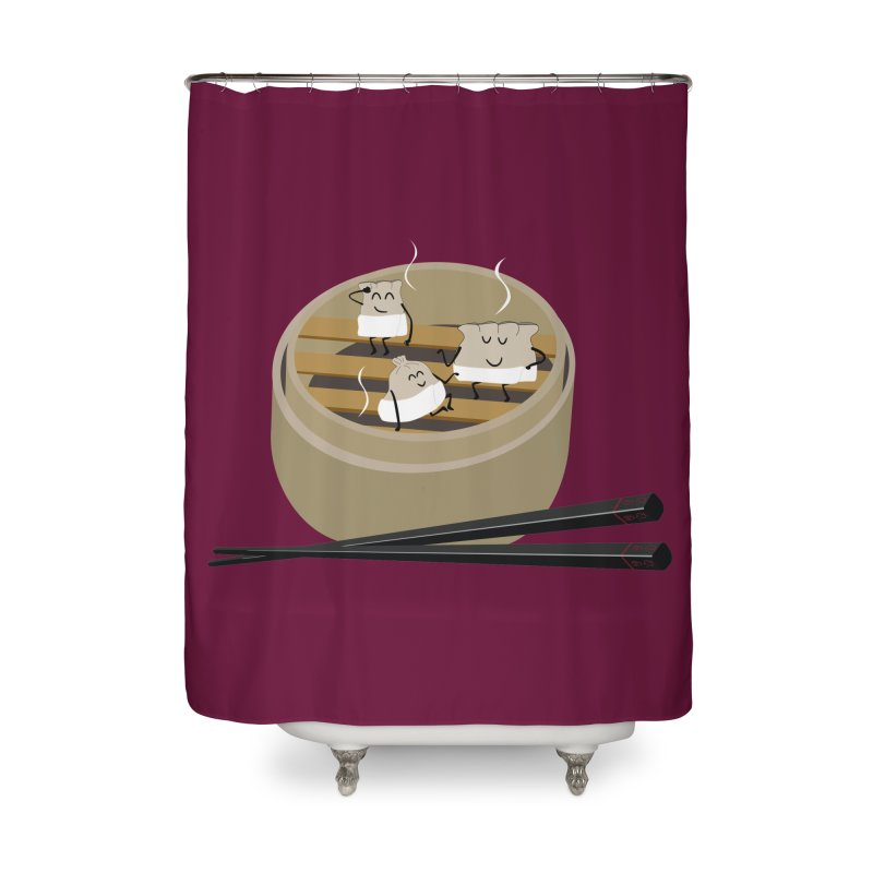 Steam room Home Shower Curtain by IreneL's Artist Shop