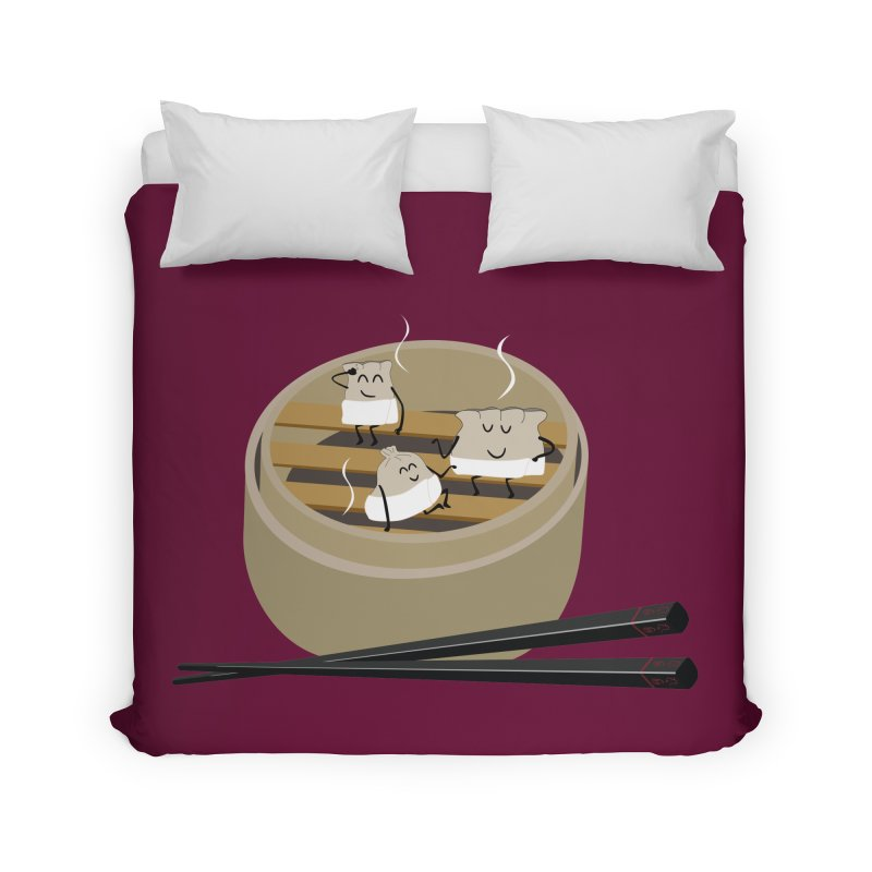 Steam room Home Duvet by IreneL's Artist Shop