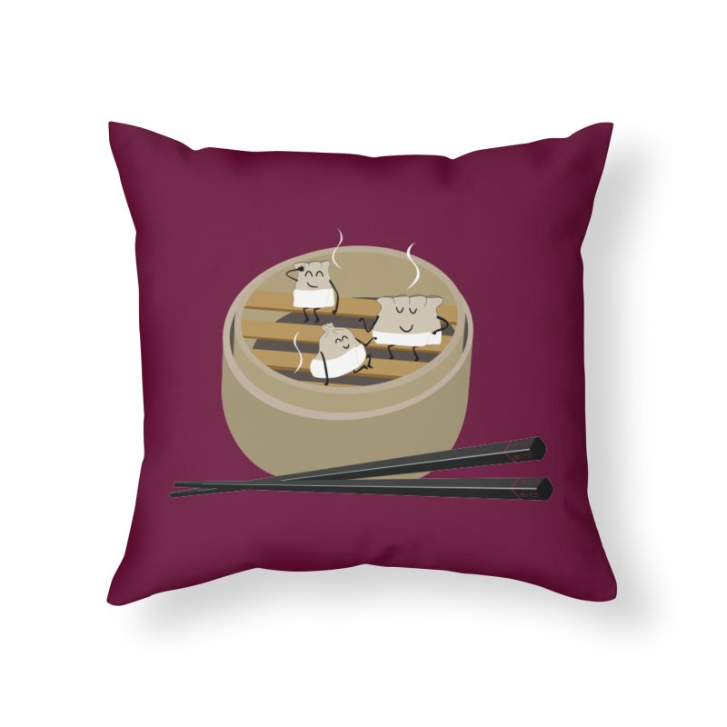 Steam room Home Throw Pillow by IreneL's Artist Shop