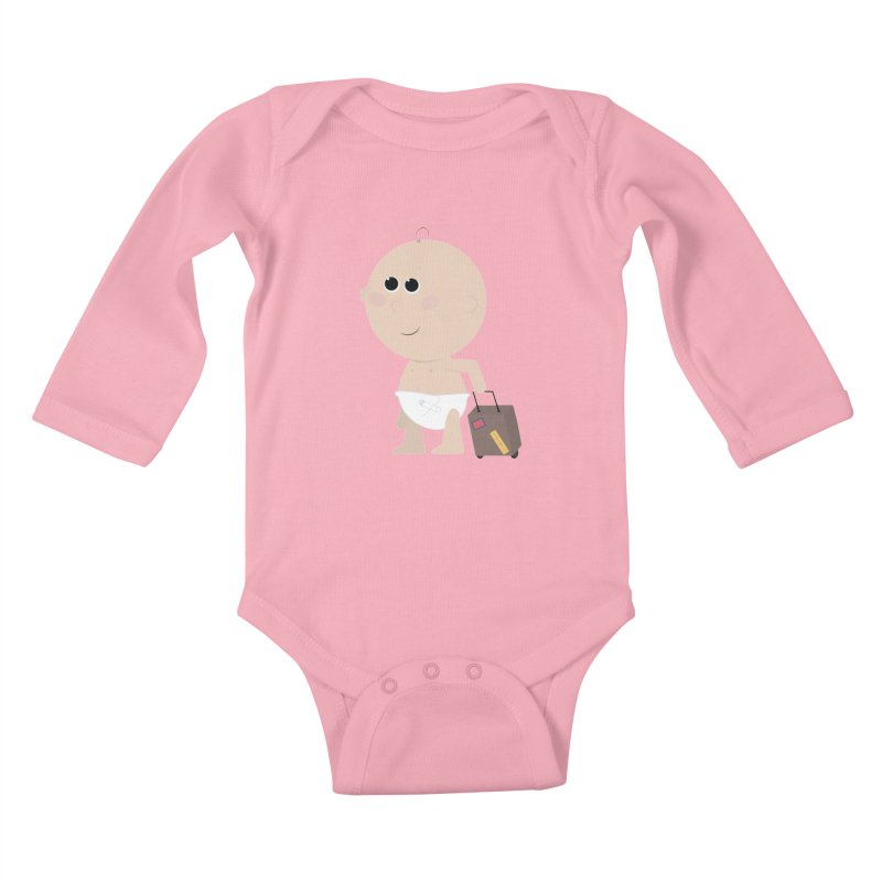 Just Landed Kids Baby Longsleeve Bodysuit by IreneL's Artist Shop