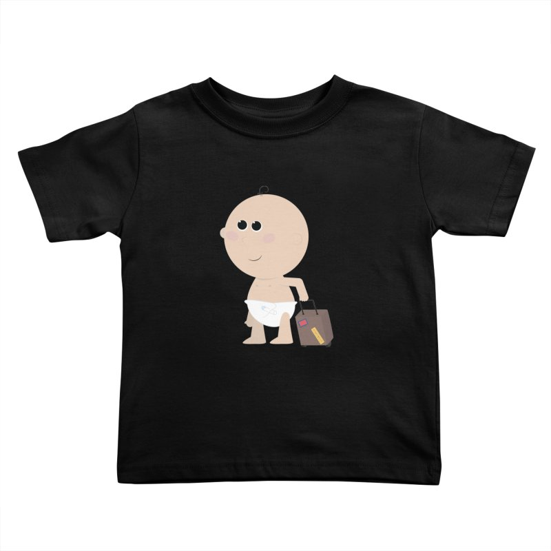 Just Landed Kids Toddler T-Shirt by IreneL's Artist Shop