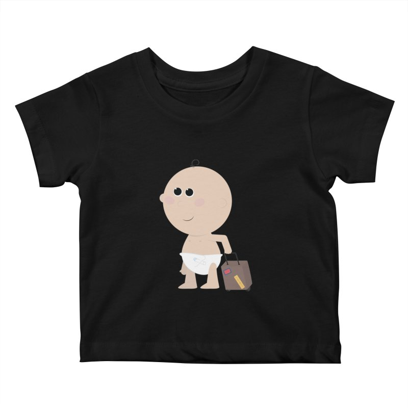 Just Landed Kids Baby T-Shirt by IreneL's Artist Shop