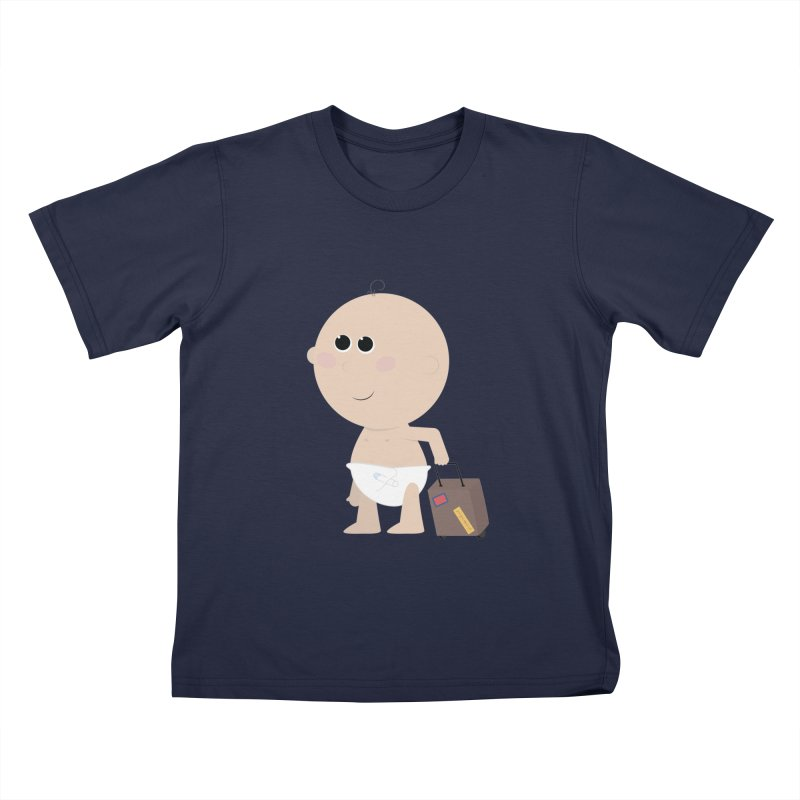 Just Landed Kids T-Shirt by IreneL's Artist Shop