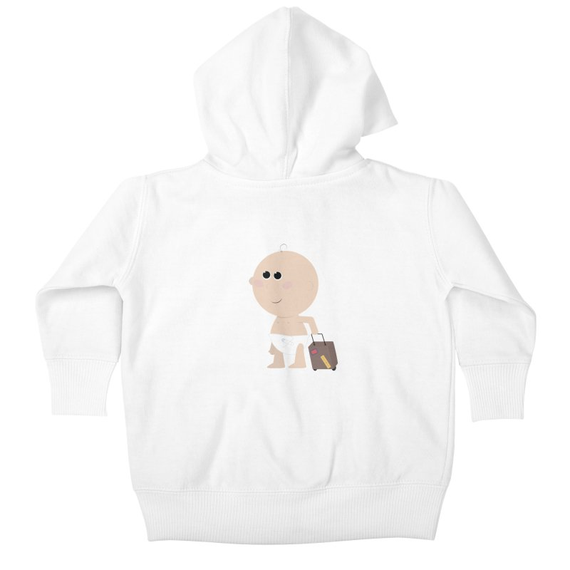 Just Landed Kids Baby Zip-Up Hoody by IreneL's Artist Shop