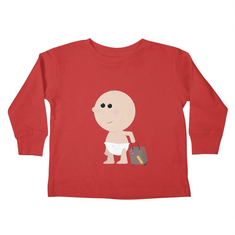 Just Landed Kids Toddler Longsleeve T-Shirt by IreneL's Artist Shop