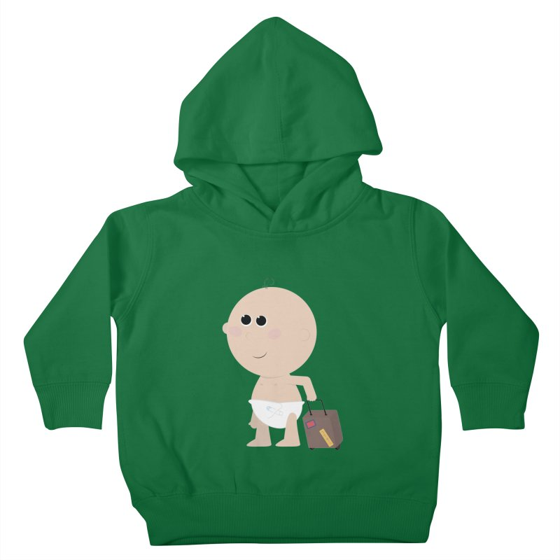 Just Landed Kids Toddler Pullover Hoody by IreneL's Artist Shop