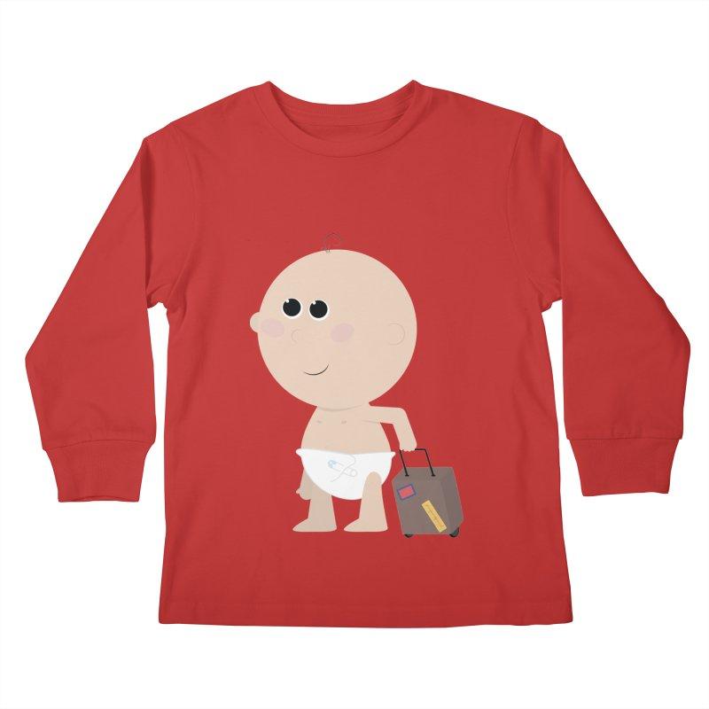 Just Landed Kids Longsleeve T-Shirt by IreneL's Artist Shop