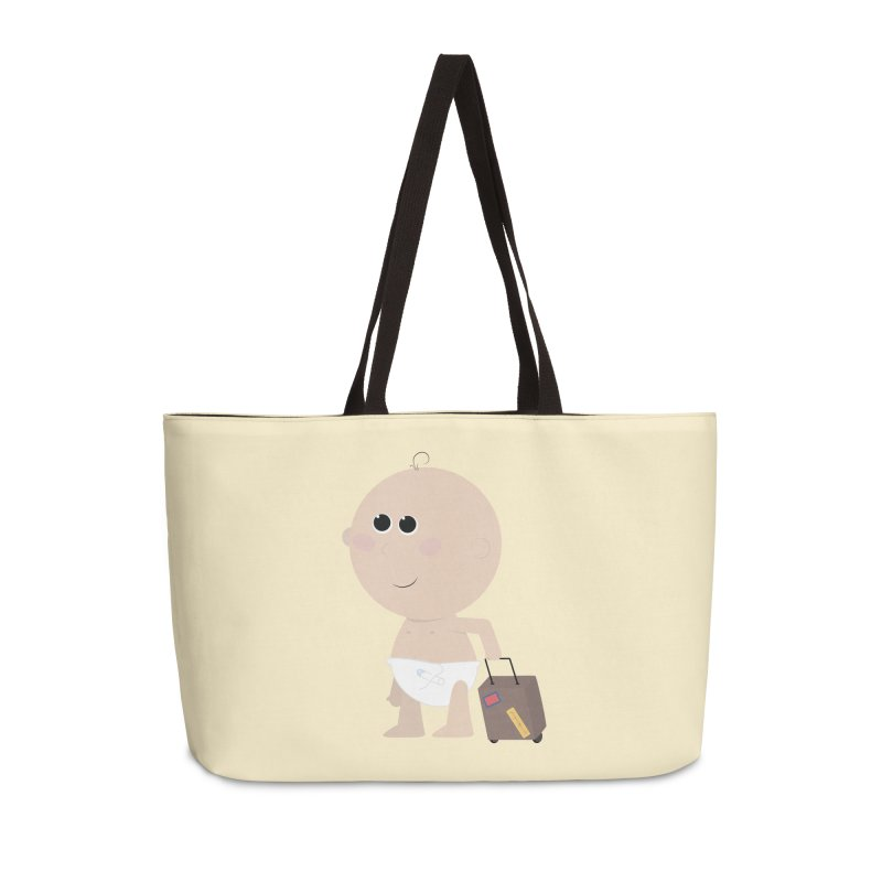 Just Landed Accessories Weekender Bag Bag by IreneL's Artist Shop