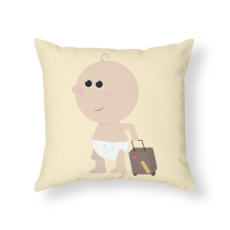 Just Landed Home Throw Pillow by IreneL's Artist Shop